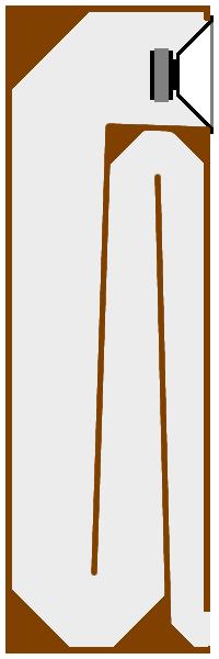 De pmc tb2i is een transmissielijn luidspreker in een klein kastje