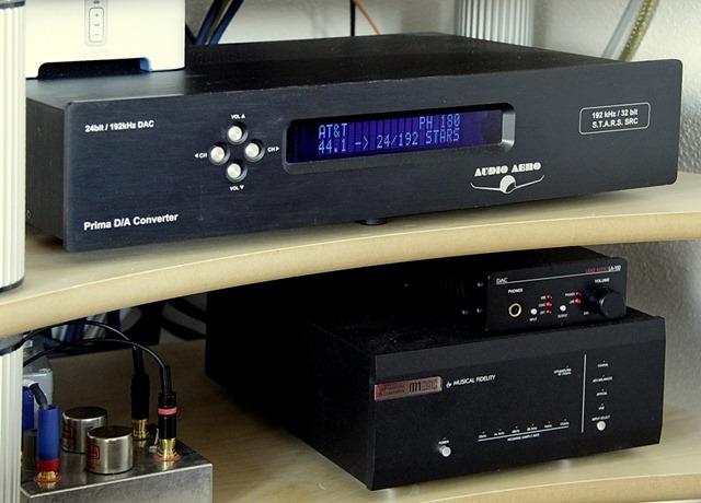 Audio Aero Prima, LA-Audio LA-100 en Musical Fidelity M1