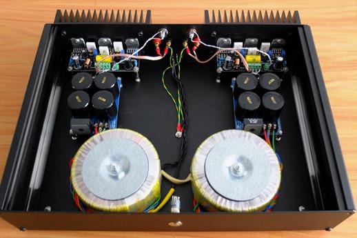 LM3886 tripple dual mono versterker binnenkant 2