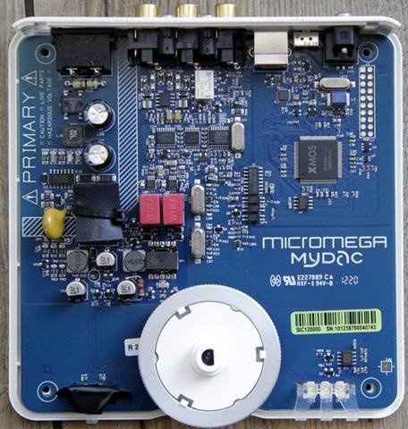 Micromega Mydac binnenkant