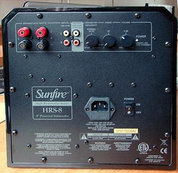 Sunfire HR8 aansluitpanel