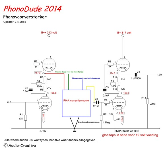 phonodude 2014 schema met RIAA module
